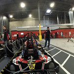 Electric Cart Racing at the Autobahn Indoor Speedway - Dick's Helmet Cam